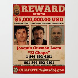 El Chapo wanted Poster