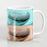 globe Mugs featuring Globe by Aloke Design