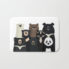 Bear family portrait Bath Mat