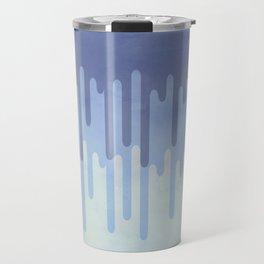 Melting blue Travel Mug