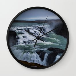 Gullfoss Falls Overview Wall Clock