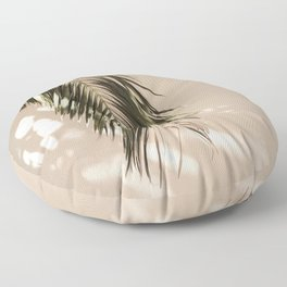 tropical palm leaves vi Floor Pillow