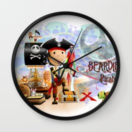 The Pirate Wall Clock