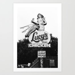 Lucy's Fried Chicken Art Print