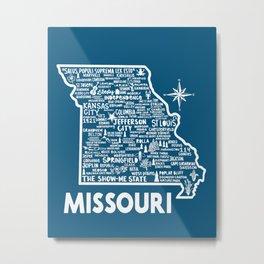 Missouri Map Metal Print