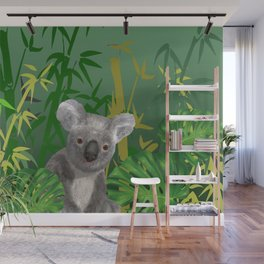 Koala Bear in Bamboo Forest Wall Mural