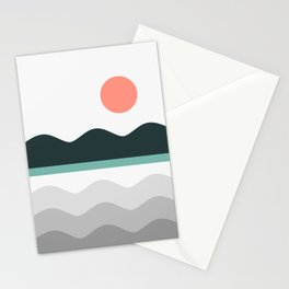 Abstract Landscape 05 Stationery Cards