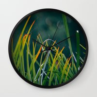 palm Wall Clocks featuring PALM by My Dear Bambi