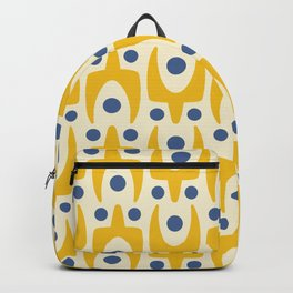 Mid Century Modern Abstract Pattern 641 Yellow and Blue Backpack