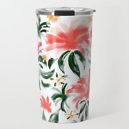 FLORESCENCE Tropical Floral Travel Mug