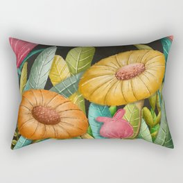 Bloom- Floral Pattern Rectangular Pillow