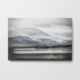 Double Exposure Iceland Metal Print