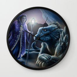 The sorceress and the dragon Wall Clock