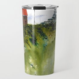houses at the Cap Travel Mug