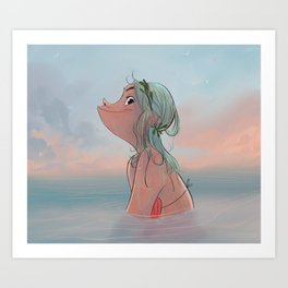 Summer morning Art Print