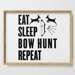 Hunter Bowhunter Bowhunting Huntress Huntsman Gift Serving Tray