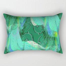 Seafoam Green Abstract 2 Rectangular Pillow