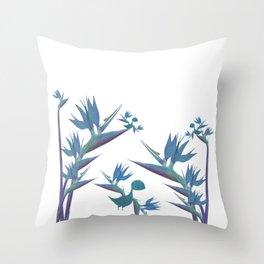 Floral Dragon Paradise 2 Throw Pillow
