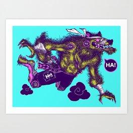 Sky High Wolf Art Print