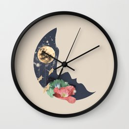 Kiss The Moon Wall Clock