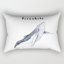 Farewhale Humour Whale Farewell Goobye design Rectangular Pillow