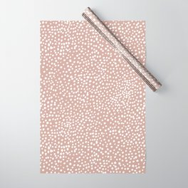 Little wild cheetah spots animal print neutral home trend warm dusty rose coral Wrapping Paper