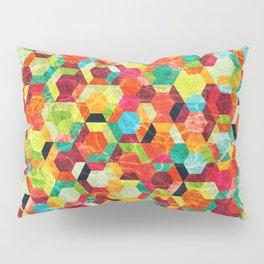 Colorful Half Hexagons Pattern #04 Pillow Sham