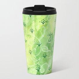 India vibe light green Travel Mug