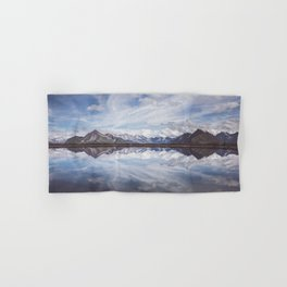 Mountain Lake Reflection - Landscape and Nature Photography Hand & Bath Towel