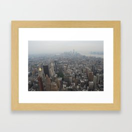 On top of The Empire State Building  Framed Art Print