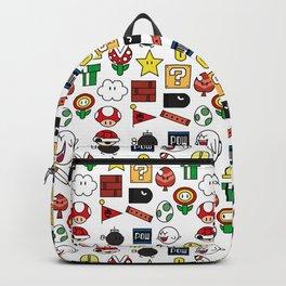 Super Mario Pattern Color Backpack