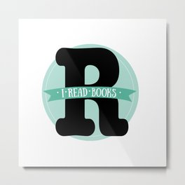 I read books Metal Print