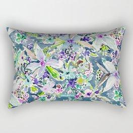 TALIA'S GARDEN Colorful Badass Floral Rectangular Pillow