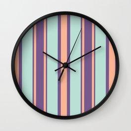 Minimal Abstract Apricot Purple SeaGreen 09 Wall Clock