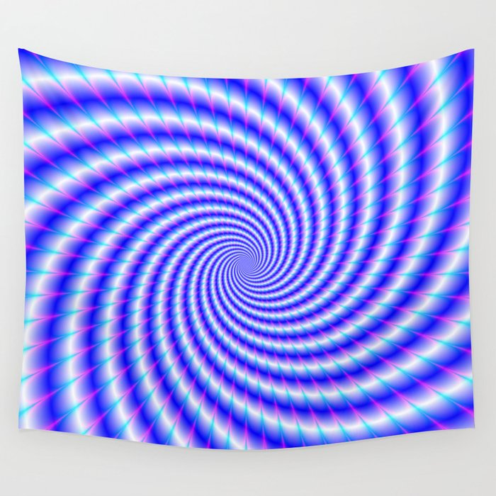 Eye Boggling Swirl Wall Tapestry