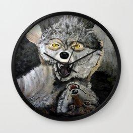 Wolf Play Wall Clock