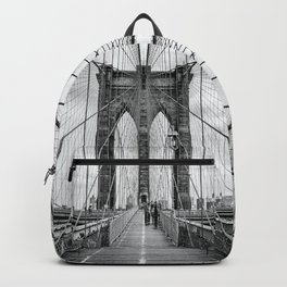 Brooklyn Bridge, New York City (rustic black & white) Backpack