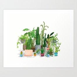 Plant Family Portrait Art Print