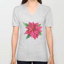 Poinsettia Unisex V-Neck