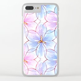Flower Sketch 9 Clear iPhone Case