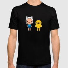 #48 Jake and Finn LARGE Mens Fitted Tee Black