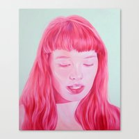bubblegum Canvas Prints featuring bubblegum by Jen Mann