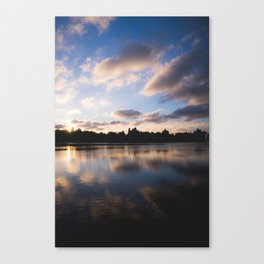 Central Park Sunset Reflection Canvas Print