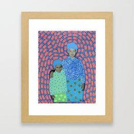 Blue Minty Friendship Framed Art Print
