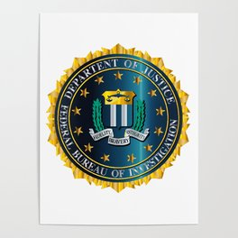 FBI Seal Mockup Poster