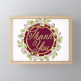 Say Thank You Framed Mini Art Print