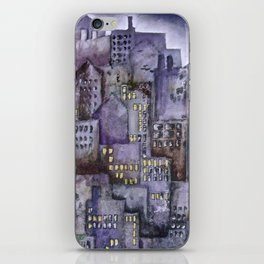 City (from original acrylic painting) iPhone Skin