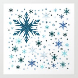 Frosty Abstract Art Print