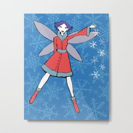 """Christa"" Fairy - Holidaze Metal Print"