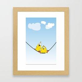 Wire Birds Framed Art Print
